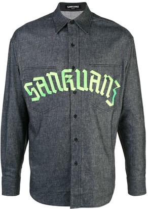 Sankuanz Logo Print Denim Shirt