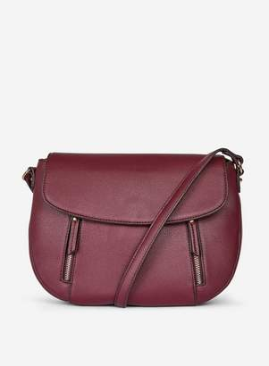 Dorothy Perkins Womens Berry Red Zip Front Cross Body Bag, Red