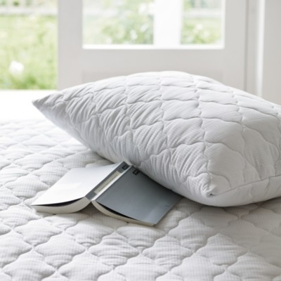 The White Company Temperature Balance Quilted Pillow Protector, No Colour, Super King