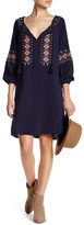 Cupcakes And Cashmere Front Fringe Tassle Embroidered Knit Dress