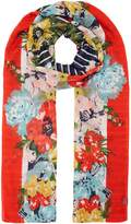 Joules Harmony floral scarf