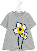 Marni flower print T-shirt - kids - Cotton - 8 yrs