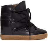 Isabel Marant Black Sheepskin Nowles Boots