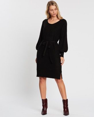 Atmos & Here Kamila Belted Knit Dress