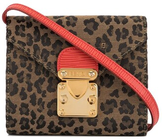 Fendi Pre Owned Leopard Print Shoulder Bag