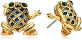 "Betsey Johnson Calypso Betsey"" Vintage Frog Stud Earrings"