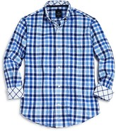 Tailorbyrd Boys' Gingham Woven Button Down Shirt - Sizes 8-18