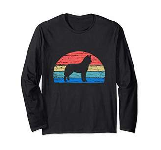 Breed Siberian Husky Cool Retro Dog Lover Gift Idea Long Sleeve T-Shirt