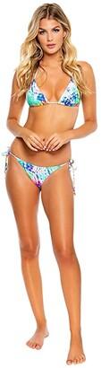 Luli Fama Celestial Dreams Crystal Ruched Back Brazilian Tie Side Bottoms (Multicolor) Women's Swimwear