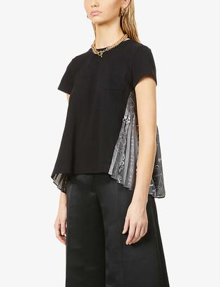 Sacai Graphic-print cotton T-shirt