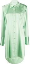 Alexander Wang Shine Wash and Go satin shirt dress