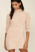 MinkPink Mink Pink Soft Serve Blush Pink Sweater Dress