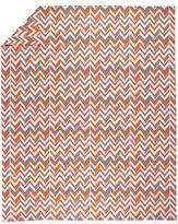 Full-Queen Little Prints Duvet Cover (Orange Zig Zag)