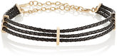 Ettika WOMEN'S BRAIDED LEATHER TRIPLE-STRAND CHOKER-BLACK
