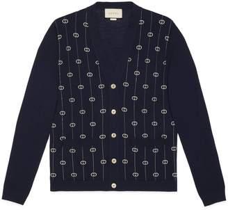 Gucci Interlocking G stripe cardigan