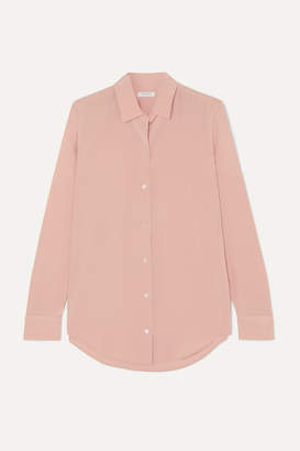 Equipment Essential Silk Crepe De Chine Shirt - Pink