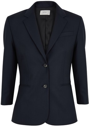 The Row Schoolboy navy wool-blend blazer
