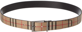 Burberry Vintage Check Reversible Leather Belt