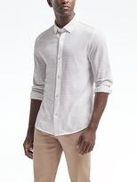 Banana Republic Textured Long-Sleeve Knit Shirt