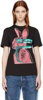 McQ by Alexander McQueen Black Glitch Bunny Classic T-shirt