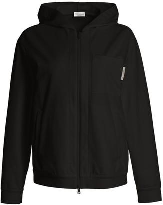 Brunello Cucinelli Felpa Zip-Front Jacket