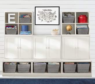Pottery Barn Kids Cameron 2 Cubbies, 3 Cabinets, & 3 Open Bases, Simply White, UPS
