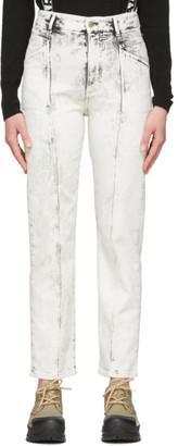Stella McCartney White Acid Wash Galaxy Seam Front Jeans