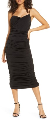 Significant Other Catalina Ruched Midi Dress