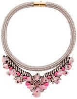 Shourouk Mini Teresa Sequin Rose Necklace