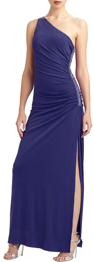 Laundry by Shelli Segal Strapless Pleated Gown