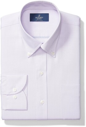 "Buttoned Down Slim Fit Solid Pocket Options Dress Shirt Purple) 17.5"" Neck 35"" Sleeve"