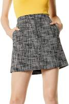 Karen Millen Zip-Front Tweed Skirt