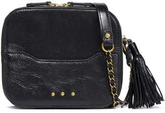Jerome Dreyfuss Tasseled Textured-leather Shoulder Bag