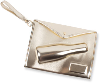 8 Oak Lane Champagne Gold Small Clutch