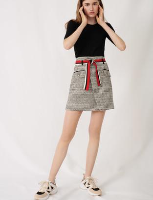 Maje Tweed-style wrap skirt