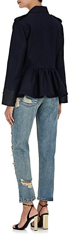 Area Women's Crystal-Embellished Distressed Jeans
