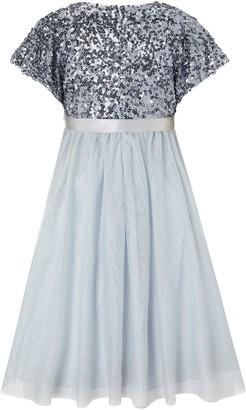 Monsoon Girls Truth Cape Sequin Maxi Dress - Blue