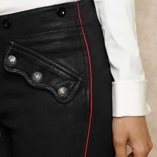 Ralph Lauren Blue Label Embroidered Coated Skinny Jean