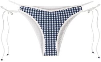 La Perla Check Print Bikini Bottoms