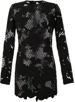 Anthony Vaccarello semi sheer floral dress
