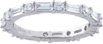 Diamonique 3.00 cttw Eternity Band, Sterling Silver