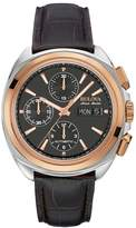 Bulova Men's Accu Swiss Automatic Leather Watch - 65B167