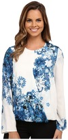 Adrianna Papell Printed Crossover Top