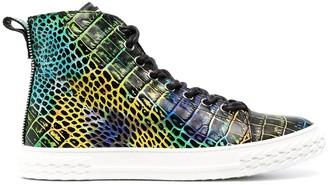 Giuseppe Zanotti Blabber crocodile-effect leather sneakers