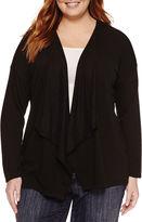 Claiborne Long Sleeve Cardigan-Plus