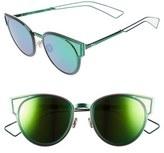 Christian Dior Women's Sculpts 53Mm Cat Eye Sunglasses - Shiny Black