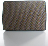 Barbara Bolan Multi-Color Canvas Zipper Closure 2 Pocket Clutch Handbag