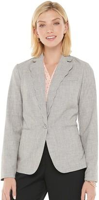 Elle Women's Scallop Collar Blazer