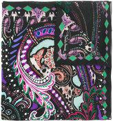 Roberto Cavalli patterned scarf