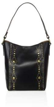 Frye Harness Studded Leather Hobo Bag